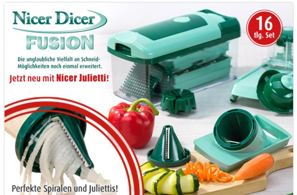 genius nicer dicer fusion julietti set 16 tlg 33796. Black Bedroom Furniture Sets. Home Design Ideas